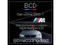 ADD FEATURES TO YOUR BMW BY CODING IT F SERIES E SERIES F10 F30 F20 E90 E60 BMW CODING DIRECT
