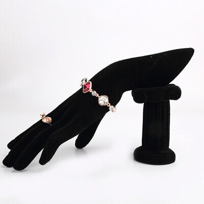 Mannequin Hand Jewelry Bracelet Bangle Ring Display Stand Rack Black Velvet