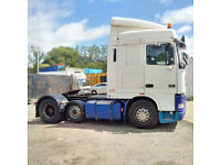 Left hand drive DAF 95XF.430 6X2 trailer head/Tractor unit. Air conditioning & Trailer Hydraulics.
