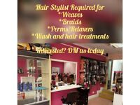 HAIR STYLIST REQUIRED FOR AFRO AND CAUCASIAN HAIR