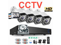HD CCTV Security Camera Kit. 4 x HD Cameras , 8 Channel HD DVR with Hard Drive, Cables, Full Kit.