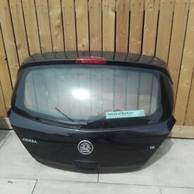 Vauxhall Corsa Tailgate- 5 Door - Black - Colour Code Z20R, Includes Lock, Motors, Handle & Loom