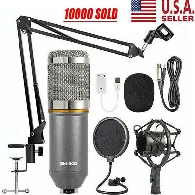BM-800 Professional Microphone Mic Kit Broadcasting Studio Recording Condenser
