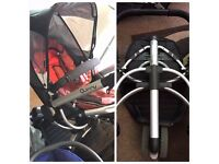 Quinny Buzz Pushchair, carrycot and accessories £50