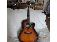 Westfield electro-acoustic guitar SR383 Sunburst