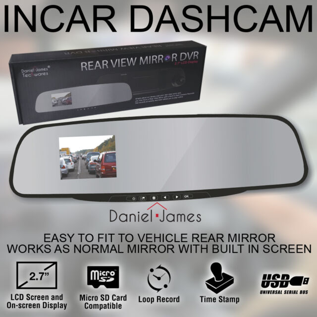 Car Camera Dash Cam DVR Vehicle Security Rear View Mirror Parking Accident Video