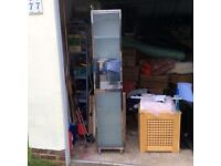 Tall stainless steel bathroom cabinet