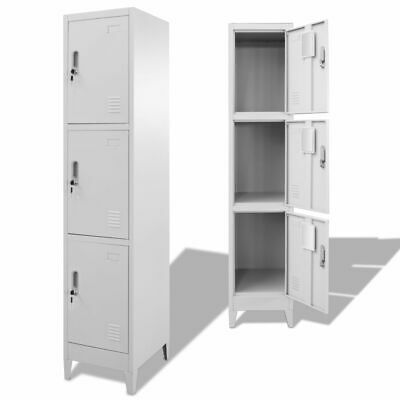 Locker Cabinet With 3 Compartments 15x17.7x70.9