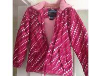 Girls Trespass pink coat Age 13/14