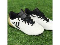 Boys Size 11 white adidas Ace 16.4 stud boots