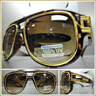 Übergröße Vintage Retro Luxusstil Sonnenbrille Groß Breit Landschildkröte &