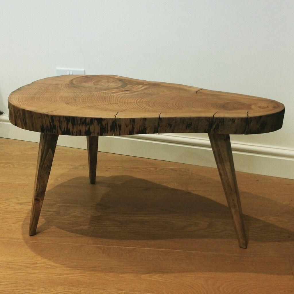 Handmade Cedar Tree Slice Coffee Table In Leamington Spa