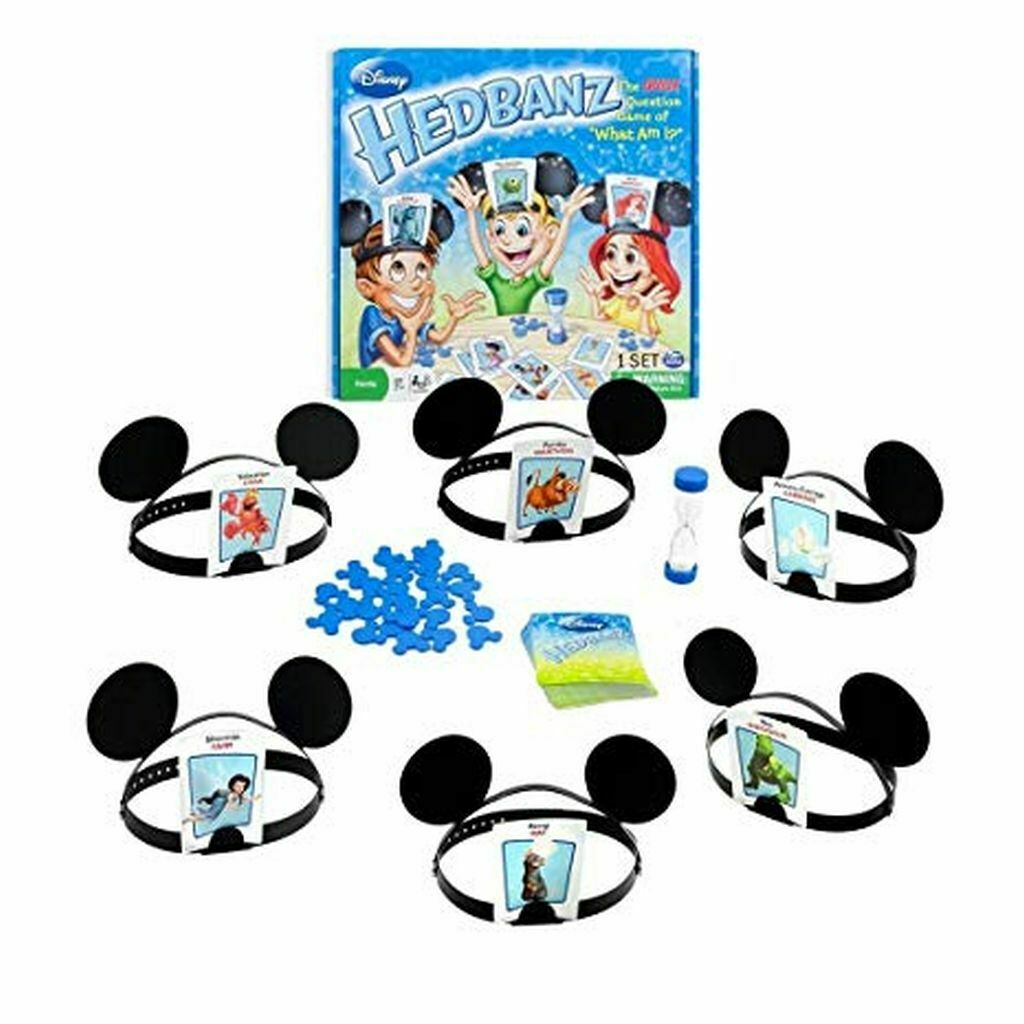 Hedbanz Disney Guessing Game Disney Characters for Kids 7 &
