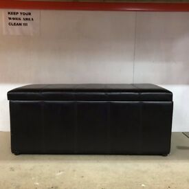 Leather Seating Bench with Storage Cabinet Used £40 Each ONO