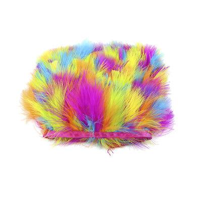 10m Dyed Turkey Feather Fringe Trim for DIY Clothing Hat Millinery 7-9cm