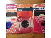 "Vintage vinyl 1960s hits 7"" records - 45 in total. Beatles , Rolling Stones , the beach boys etc"