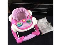 Pink baby car walker