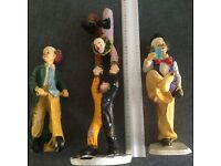 3 Hand Painted Circus Clowns