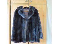 Brown faux fur jacket size 12-14