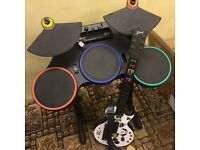 Guitar hero Band hero Guitar and Drums for WII