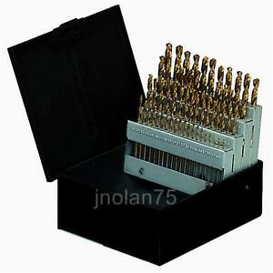 60 Piece Titanium Nitride Coated Numbered Drill Bit Set Sizes: 1 - 60 NEW 60 pc