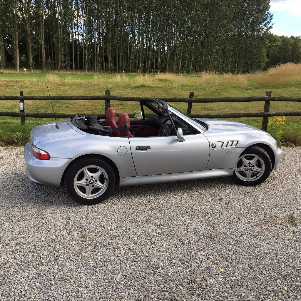 Bmw Z3 1 9 Roadster In Silver With Red Leather Interior