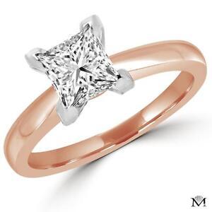 PRINCESS CUT DIAMOND ENGAGEMENT RING 1.25 CARAT / BAGUE DE FIANCAILLES DIAMANT SOLITAIRE PRINCESSE 1.25 CT