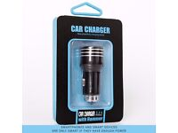 USB 2 In 1 Car Charger, Emergency Glass Breaker Hammer Compatible With iPhones, mp3 Players & More
