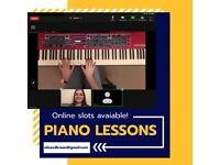 ONLINE PIANO & KEYBOARD LESSONS - classical, pop, music theory, you name it!