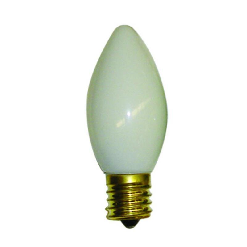 NEW Brite Star 25 ct White C9 Ceramic Christmas Light Bulbs 44-454-93 US Seller