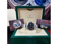 New Complete Package silver strap black face ceramic bezel Rolex submariner sweeping