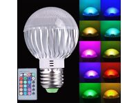 E27 5W RGB LED Spotlight Bulb Dimmable 16 Color Changing AC85-265V+ Remote