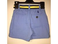 baby boys Polo by Ralph Lauren 12m shorts as NEW