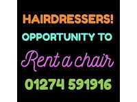 Hairdresser chair to rent