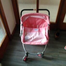Baby born 2 seater dolls buggy