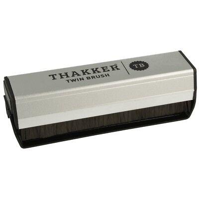 Thakker Twin Brush Super Exstatic Schallplattenbürste Kohlefaser-/Samtbürste