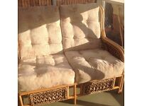 Conservatory 2seater and two arm chairs non smoker
