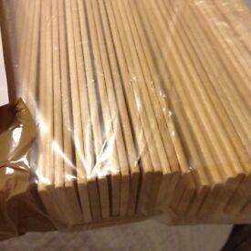 Wooden blinds natural