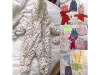 0-3 Months Baby Clothes Bundles + Snow suit