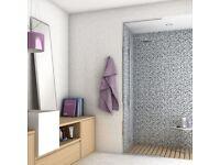 Midnight Black Mix Tiles Vitality Micro Mosaic Effect Tile 500x250x8mm