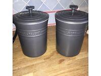 Le Creuset pots with lids