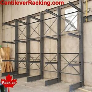 We Stock Regular Duty Cantilever Rack - We ship cantilever racking across Canada! Structural Cantilever Racks