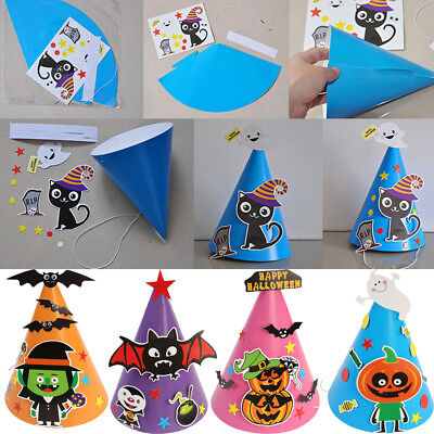 IY Paper Cap Tricky Hat Kids Makeup Costume Party Props Toy (Halloween Party Props Diy)