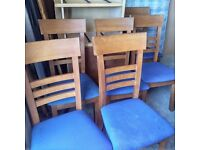 6 dining chairs (can be re-upholstered)