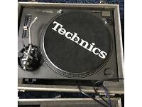 Technics 1210 turntable with flightcase