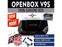 UPGRADED☆IPTV RECEIVER BUILT IN WIFI☆APPS☆OPENBOX V 9 S TV SAT ☆£115/12MTHS- COLLECTION ONLY☆