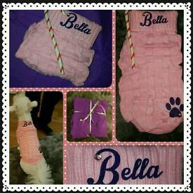 PINK PERSONALISED DOG / CAT JUMPER