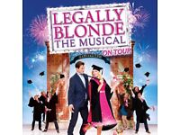 2 x Legally Blonde tickets Fri 17th Nov Mayflower Theatre Southampton, excellent seats