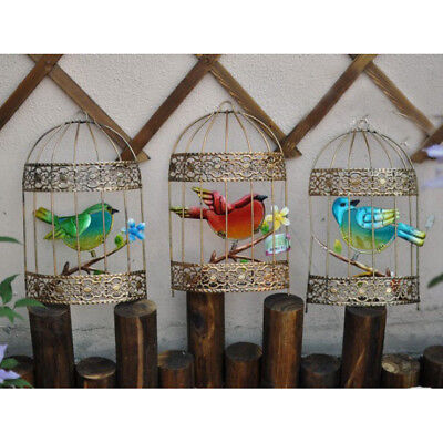 Iron Metal Bird Cage Hanging Wall Art for Home Garden Wedding Decor Gift