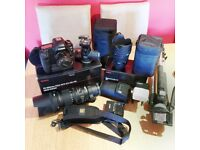 2 x Sigma Lenses (Canon)(Excellent condition) plus various extras. Sheffield, South Yorkshire.
